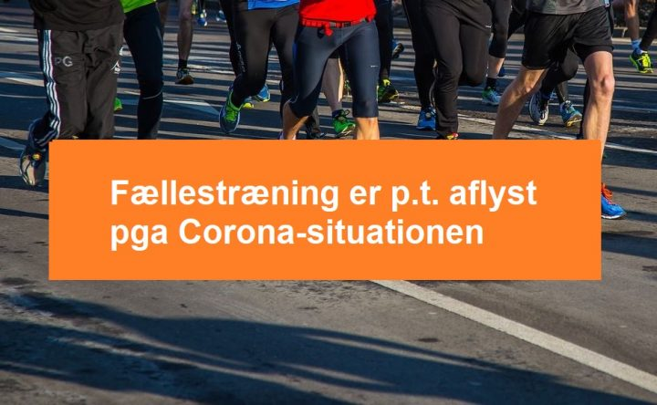 Træning aflyst pga. Corona